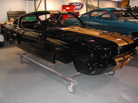 1966 Shelby GT350 black passenger side