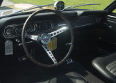 1966 Shelby GT350 black steering wheel