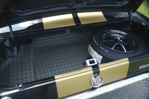 1966 Shelby GT350 black trunk