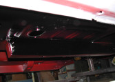 1966 Shelby GT350 black underneath the car