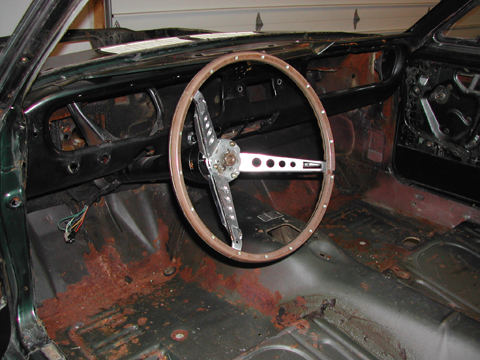 1966 Shelby GT350 steering wheel
