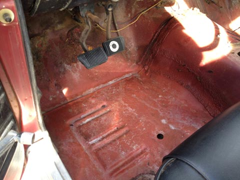 1967 Ford Mustang Fastback driver gas pedal