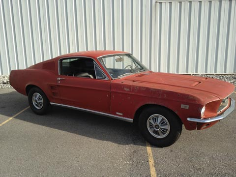 1967 Ford Mustang Fastback passenger side
