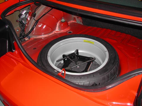 2000 Ford Mustang Cobra R spare tire