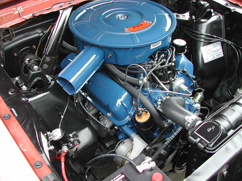 1966 Ford Mustang Survivor engine