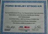 2008 Shelby GT500 KR VIN