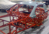 1999 Pratt and Miller Racing, SCCA Trans Am Road Racing Series Chassis #003 cage with top