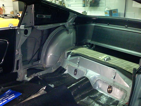 1965 Ford Mustang GT Fastback trunk