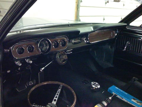 1965 Ford Mustang GT Fastback interior