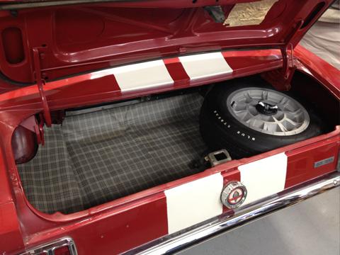 1966 Shelby GT350 trunk
