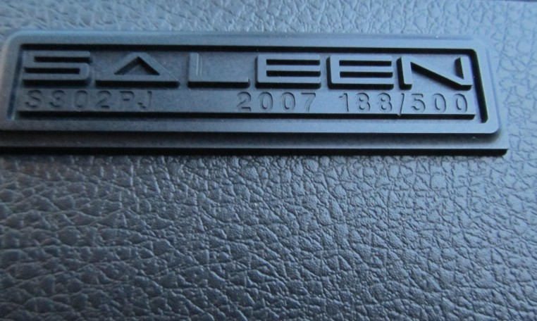 2007 Saleen Mustang Parnell Jones Edition interior