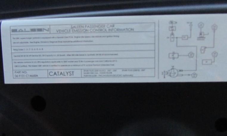 2007 Saleen Mustang Parnell Jones Edition engine details