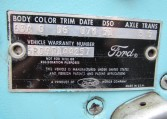 1965 Ford Mustang 2+2 Fastback vehicle warranty number