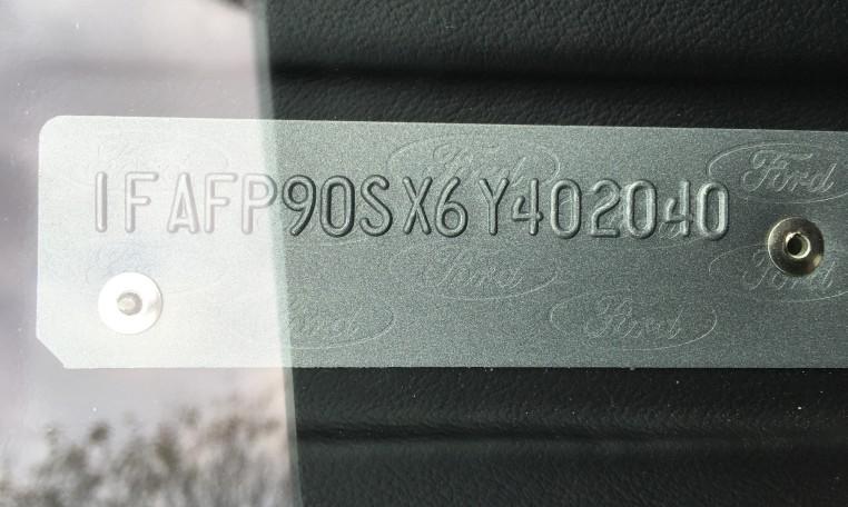 2006 Ford GT VIN