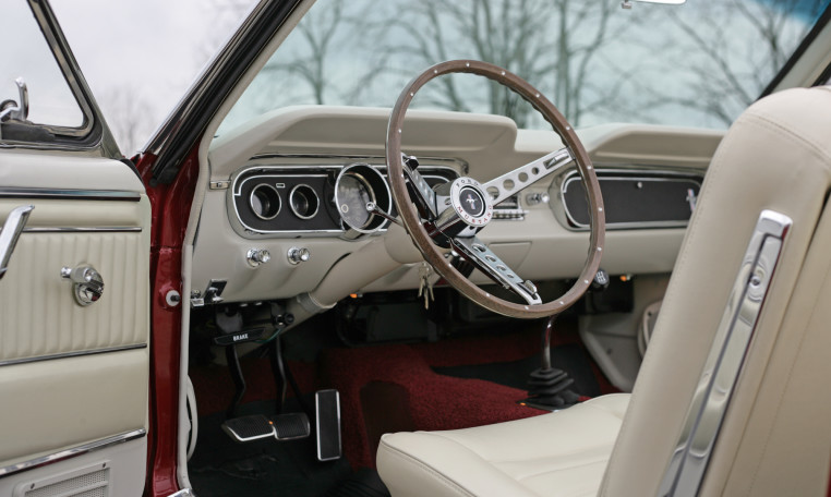 1966 Ford Mustang steering wheel